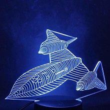 3D Illusion Lamp Led Night Light Modern Airplane