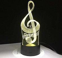 3D Illusion lamp led Night Light Musical Note with