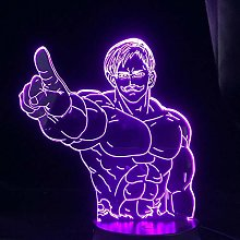 3D Illusion Lamp Led Night Light Seven Signs of