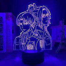 3D Illusion Lamp Led Night Light Titans Levi