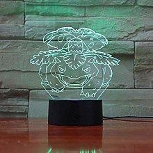 3D Illusion Lamp Led Night Light Venusaurier for