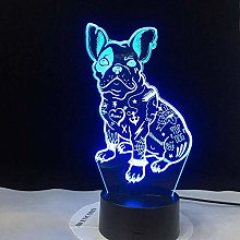 3D Illusion lamp led Night Light with Interior
