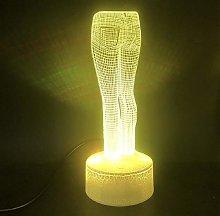3D Illusion Lamp Remote Control Night Light 3D Art