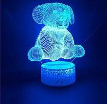 3D Illusion Lamp Remote Control Night Light 3D