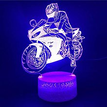 3D Illusion Lamp Remote Control Night Light 3D