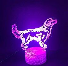 3D Illusion Lamp Remote Control Night Light 3D Pet