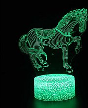3D Illusion Lamp Remote Control Night Light Art