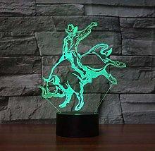 3D Illusion Lamp Remote Control Night Light Clown