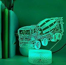 3D Illusion Lamp Remote Control Night Light