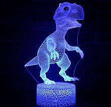 3D Illusion Lamp Remote Control Night Light Cute