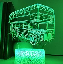 3D Illusion Lamp Remote Control Night Light Double