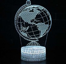 3D Illusion Lamp Remote Control Night Light Globe