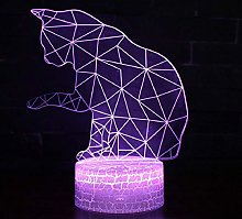 3D Illusion Lamp Remote Control Night Light