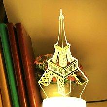 3D Illusion Lamp Remote Control Night Light Iron