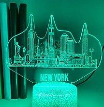 3D Illusion Lamp Remote Control Night Light New
