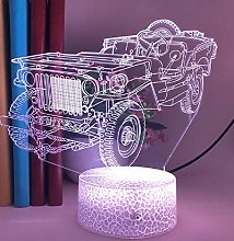 3D Illusion Lamp Remote Control Night Light Old