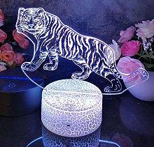 3D Illusion Lamp Remote Control Night Light Proud