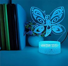 3D Illusion Lamp Remote Control Night Light Table