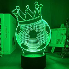 3D Illusion Night Light Football Crown 7 Colors