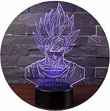 3D Illusion Night Light LED Desk Table Lamp 7