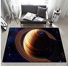 3D Jupiter Print Rectangular Rug 160x230 cm,Unique