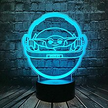 3D Lamp Illusion Childrens Lamps Bedside Kids