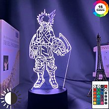 3D Lamp Katsuki Bakugo Figure Kids Bedroom