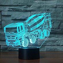 3D Lamp Led Night Light Blender Car Model Illusion