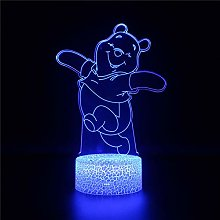 3D Lamp Led Night Light for Kids Winnie The Pooh H