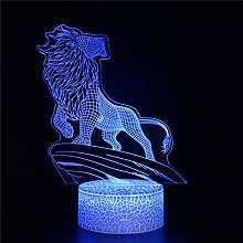 3D Lamp Lighting Led USB Lion A Playstation Lamp