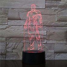 3D Lamp Night Light LED Bulb Multicolor Acrylic
