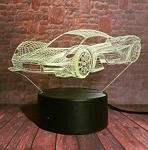 3D lamp Night Light Man's Cool Modern Car