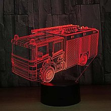 3D Lamp Vision Effect Led Night Light Fire