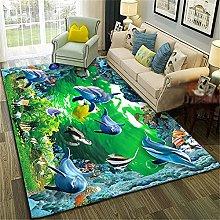 ◆ 3D landscape green seabed modern carpet