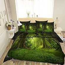 3D Lawn Green Tree Forest Nature 371 Bedding