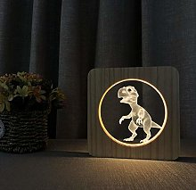 3D LED Acrylic Wooden Night Light Table Lamp