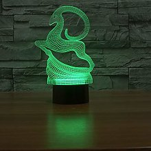 3D Led Creative Table Lamp Elk Novelty Specialty