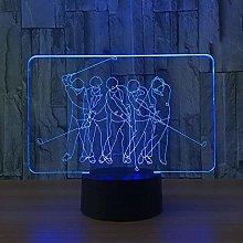 3D led lamp Girls Night Light Golf,Dimmable