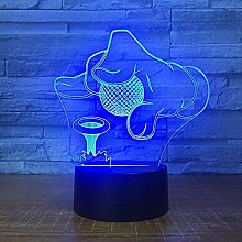 3D led lamp Hologram Golf,Home Decoration with