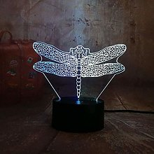 3D led lamp Illusion lamp Insect Dragonfly,Home