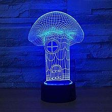 3D led lamp Night lamp Mushroom,Dimmable