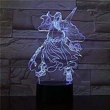 3D Led Lamp Night Light Guan Yu-Optical Bedside
