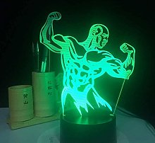 3D led lamp Night Lights Fitness Man,Dimmable