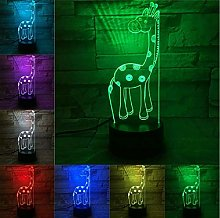 3D LED Lamp Transparent Acrylic Night Light USB