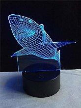 3D Led Night Light Animal Shark Lamp Lighting USB