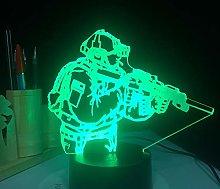 3D Led Night Light Army Soldier Flash USB Bulb