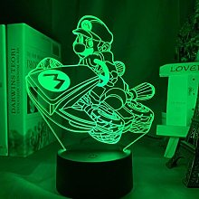 3D led Night Light Super Mario Kart Christmas Gift