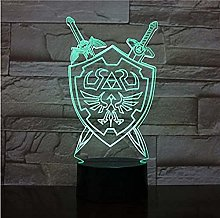3D Led Night Mood Lamp 7 Colors The Legend of