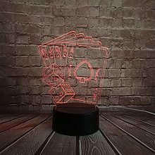 3D Led USB Lamp Magician Decoration Texas Hold Em