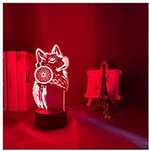 3d Light Dream Catcher Wolf Luminous For Home